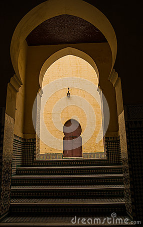 Yellow mausoleum in Meknes