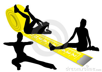 a yellow measuring tape and gymnas