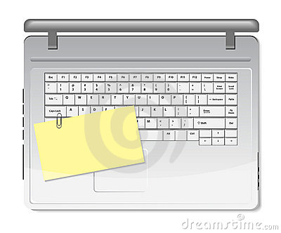 Yellow memo and paper clip