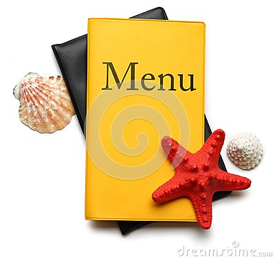 Yellow menu book