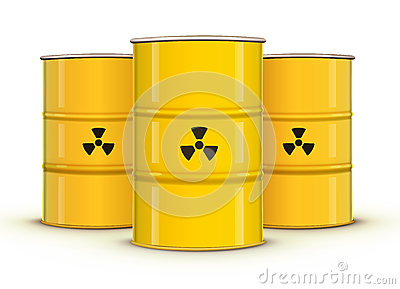 Yellow metal barrels