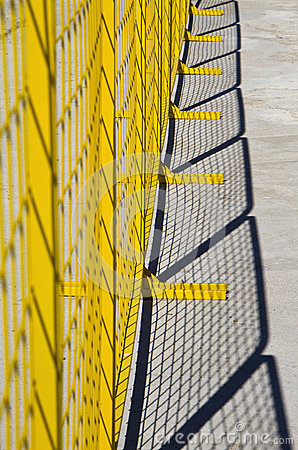 Free Yellow Metal Barrier Netting Royalty Free Stock Photo - 24882255