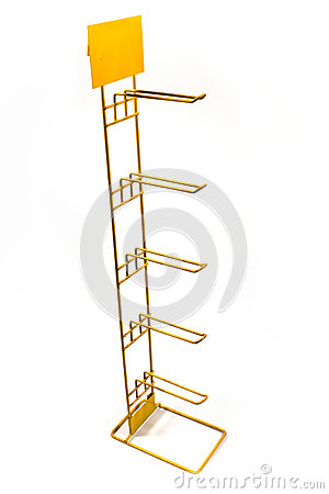 Yellow metal rack