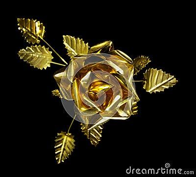 Free Yellow Metal Rose Royalty Free Stock Image - 20944206