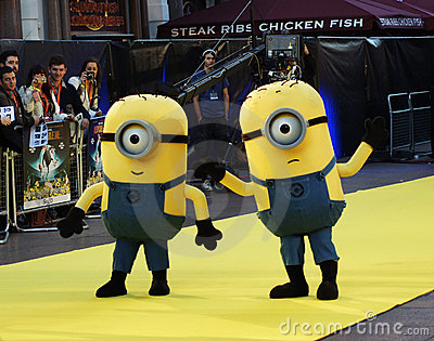 Yellow Minion At Despicable Me Premiere Editorial Stock Image