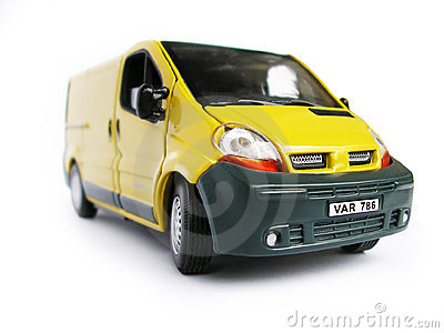 Yellow Model Car - Van. Hobby, Collection