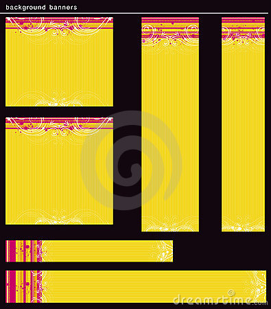 Yellow modern  banners, vector