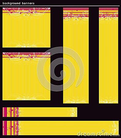 Yellow modern  banners, vector