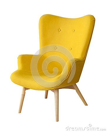 Free Yellow Modern Chair Isolated Royalty Free Stock Photo - 66425615