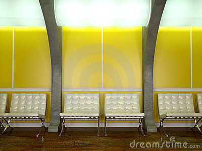 Yellow modern interior
