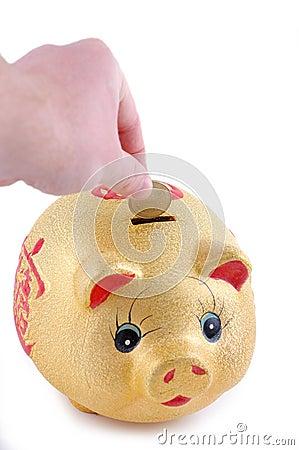 Yellow money-box
