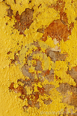 Yellow mud wall