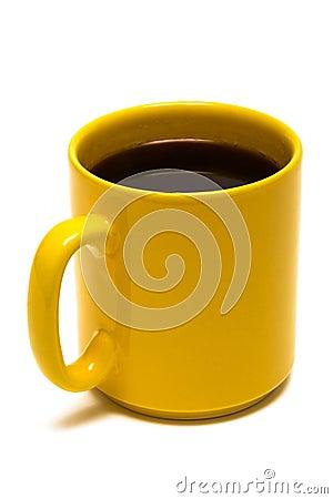 Free Yellow Mug From Coffee Royalty Free Stock Photos - 5817518