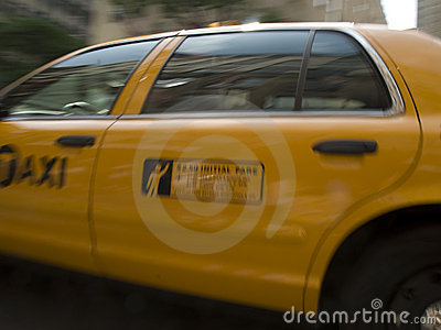 Yellow New York taxicab