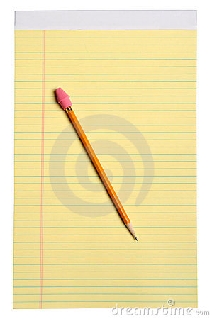 Yellow Note Pad With Pencil