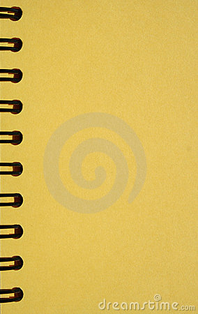 Yellow notebook with spirals
