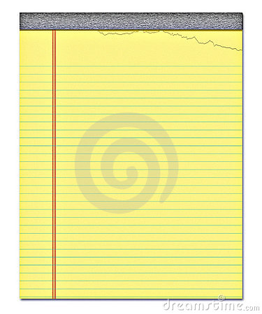 Yellow notepad note paper