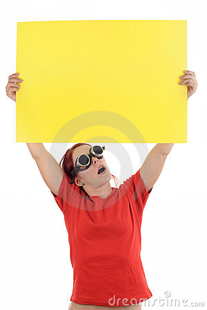 Yellow notification paper