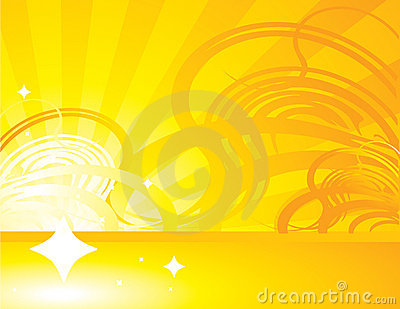 Yellow orange abstract ray background 1
