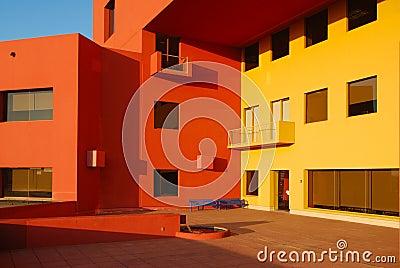 Yellow & orange building walls