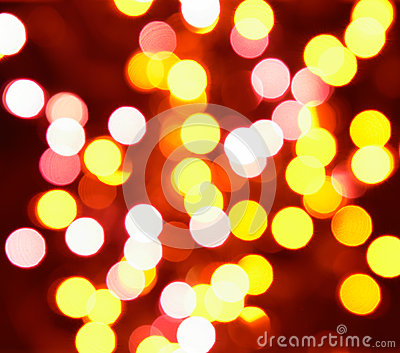 Yellow and orange holiday bokeh