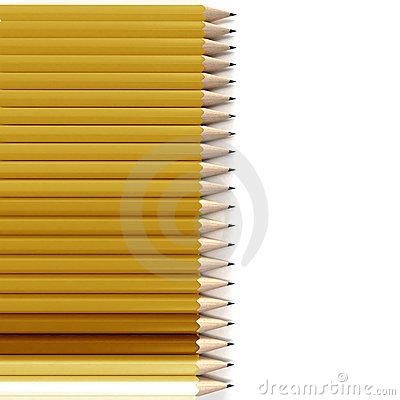 Yellow and orange pencil  background