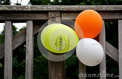 Yellow Orange And White Balloon Beside Gray Wooden Fence Free Public Domain Cc0 Image
