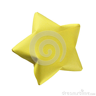 Yellow origami star