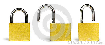 Yellow padlock
