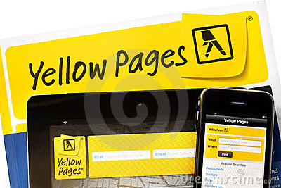 Yellow Pages Online Editorial Photo