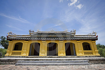 Yellow pagoda in hue