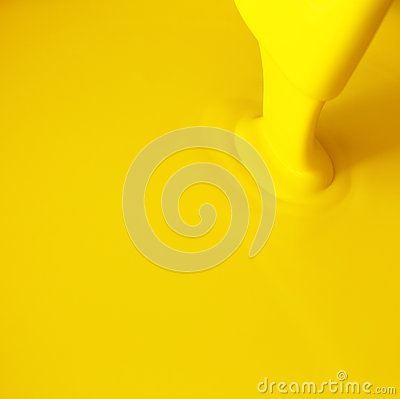 Yellow paint