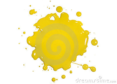 Yellow Paint Splatter