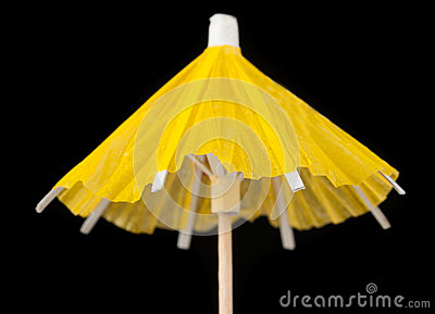 Yellow Paper Cocktail Umbrella
