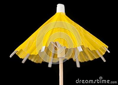 Yellow Paper Cocktail Umbrella
