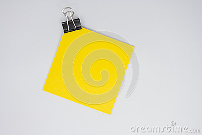 Yellow paper note