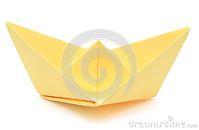 yellow paper ship