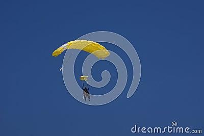 Yellow parachute