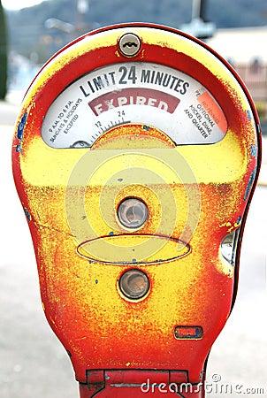 Yellow Parking Meter Expired