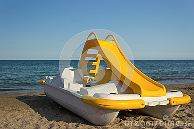 Yellow Pedal Boat