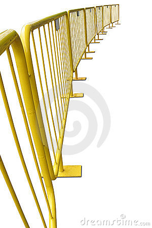 Free Yellow Pedestrian Barriers Stock Images - 20080644