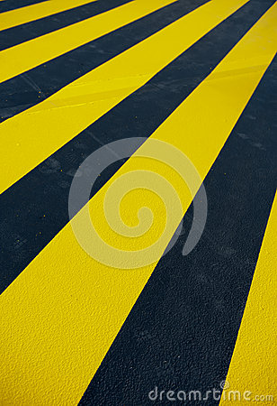 Yellow pedestrian crossing