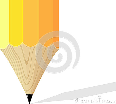 Yellow pencil background