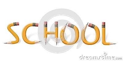 Yellow Pencils Spelling School Stock Images - Image: 1952094