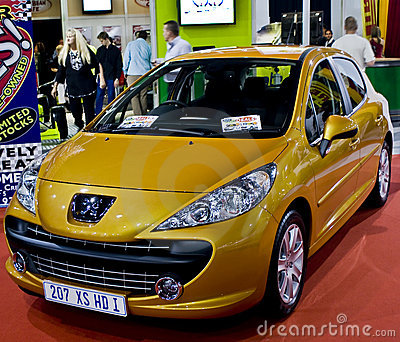 Yellow Peugeot 207 XS 1.6 HDi Editorial Image