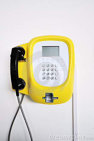 Free Yellow Phone Stock Images - 15340974