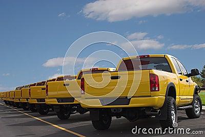 Yellow Pickup Trucks