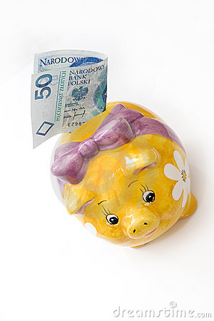 Yellow pig bank