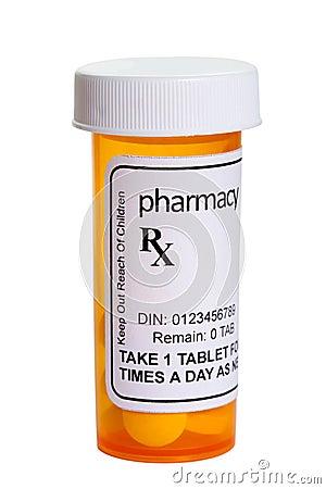 Free Yellow Pill Bottle Royalty Free Stock Image - 40716606