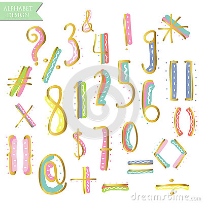 Free Yellow Pink Blue Green Gold Colorful Ink Alphabet Letters Stock Image - 70682891